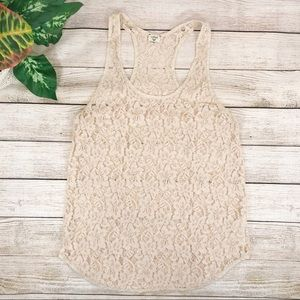 Wilfred Lace Tank Top in Cream